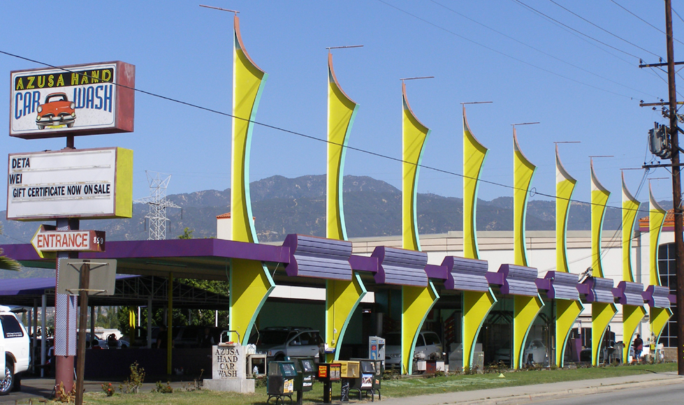 azusa car wash	  Mid-Century Modern Car Washes | RoadsideArchitecture.com
