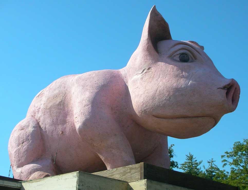 pig amp hog statues roadsidearchitecturecom