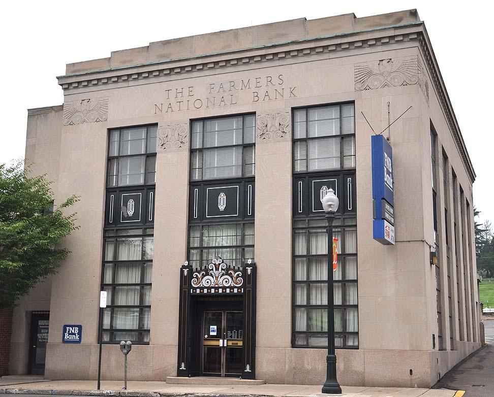 Art Deco Bank.Pennsylvania Art Deco Streamline Moderne Buildings