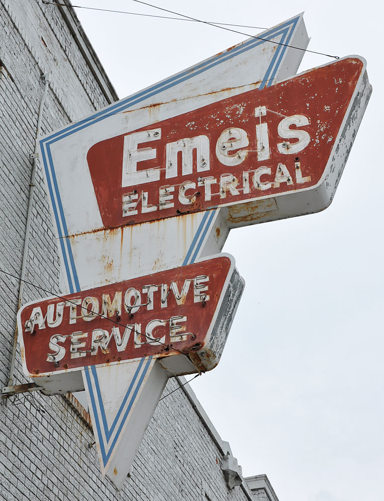 The old Emeis sign – a taste of the aesthetic