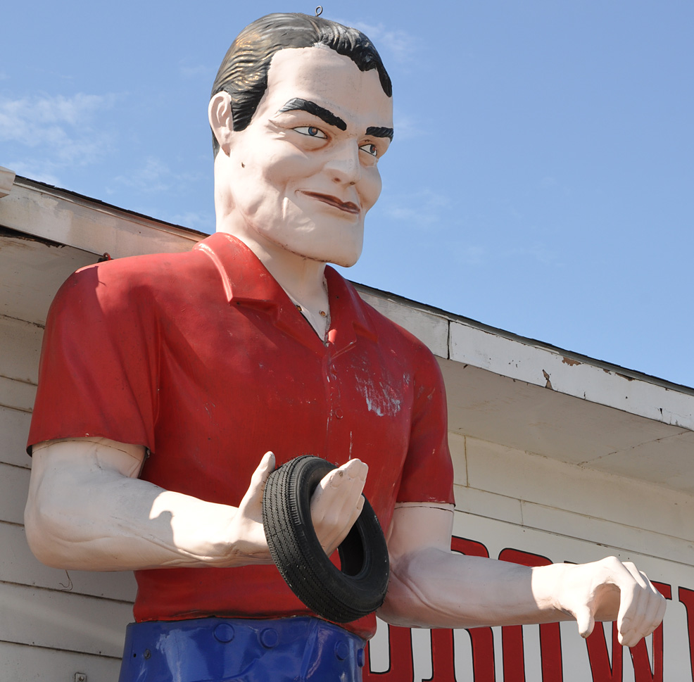 International Fiberglass Giant Men Statues