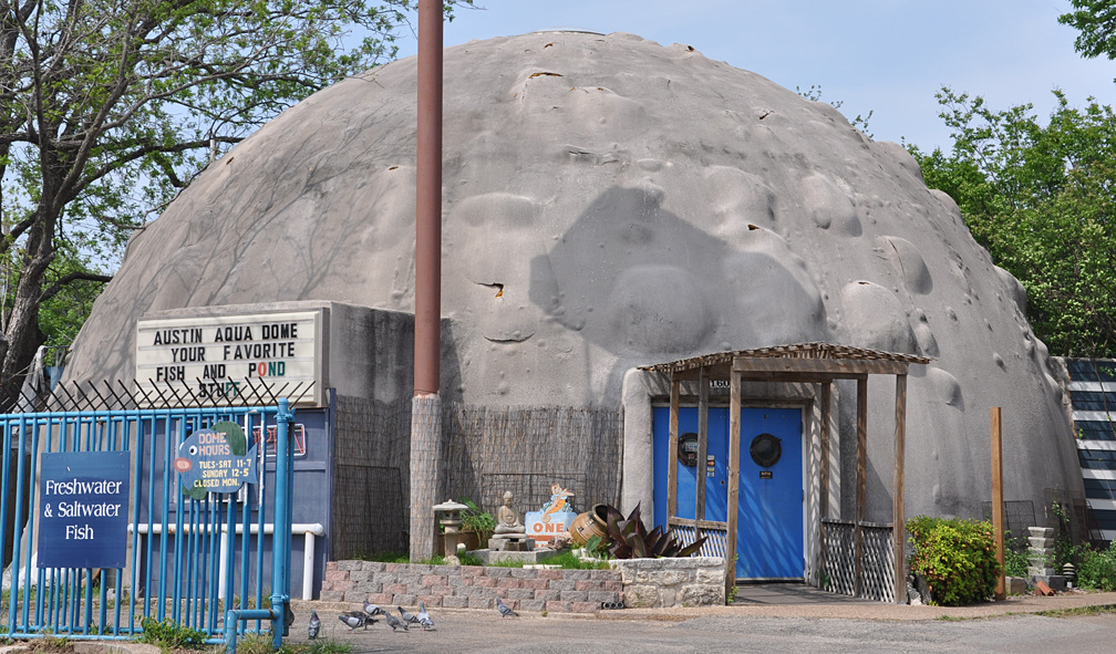 Texas mid century modern domes for Fish store austin