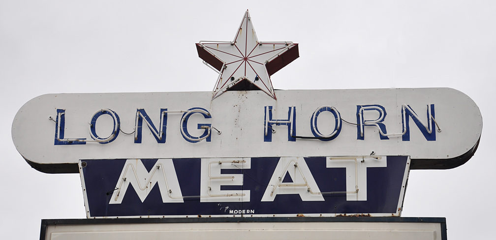 Austin signs roadsidearchitecture austin tx long horn meat co malvernweather Images