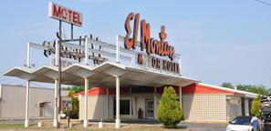 texas mid century modern motels hotels
