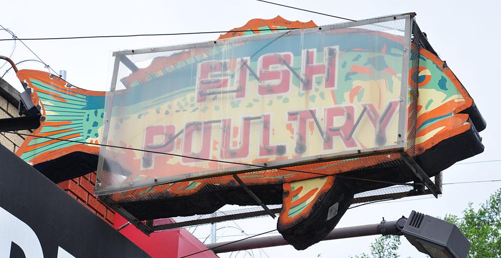 Detroit signs for Detroit fish market