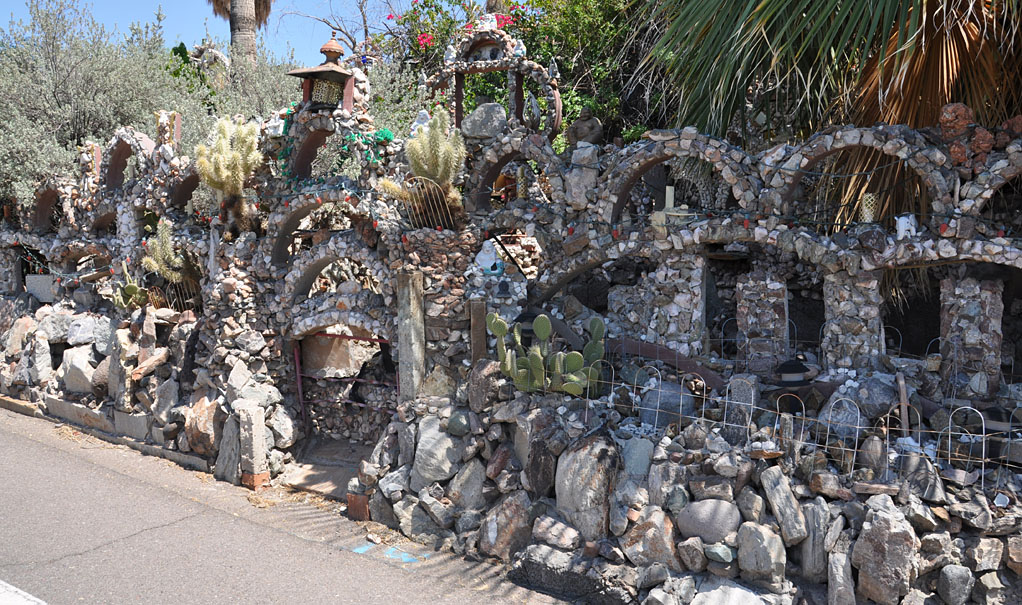 Louis Leeu0027s Rock Garden Is Also Known As The Lee Oriental Rock Garden. In  1958, Louis Lee Bought This House In Phoenix, AZ And Started Building With  Small ...