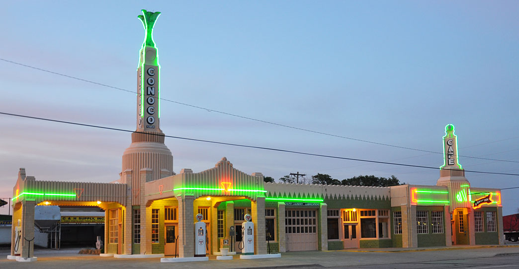 Texas Art Deco Gas Stations | RoadsideArchitecture com