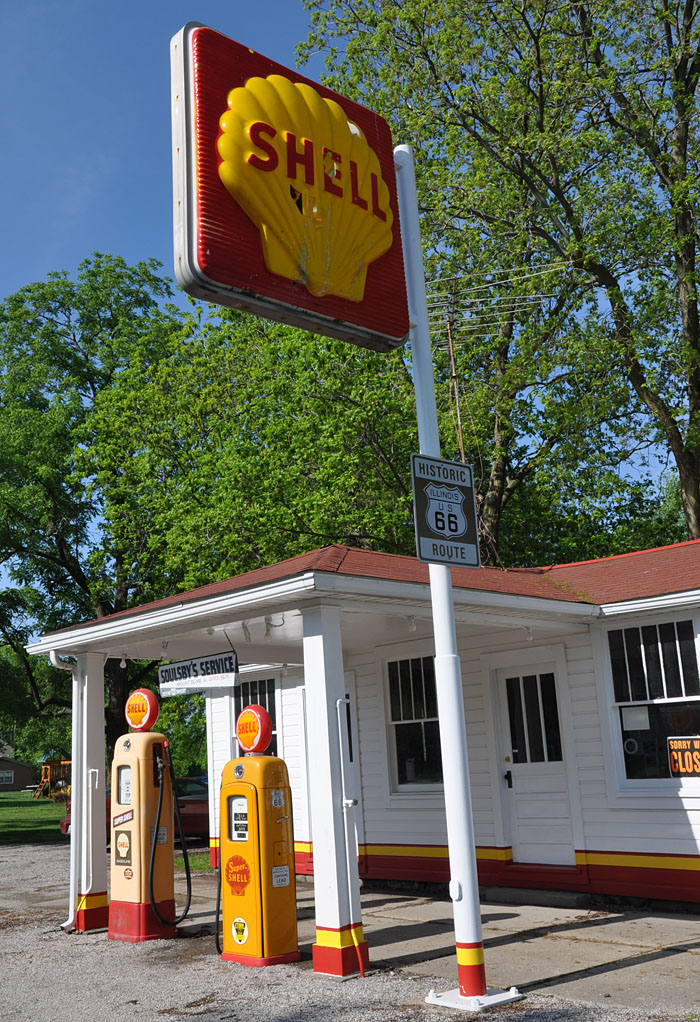 Mid America Motorworks >> Illinois Canopy Gas Stations | RoadsideArchitecture.com