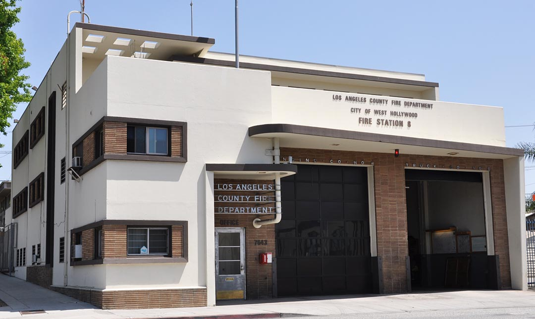 Fire Station #8. West Hollywood CA & California Mid-Century Modern Buildings | RoadsideArchitecture.com