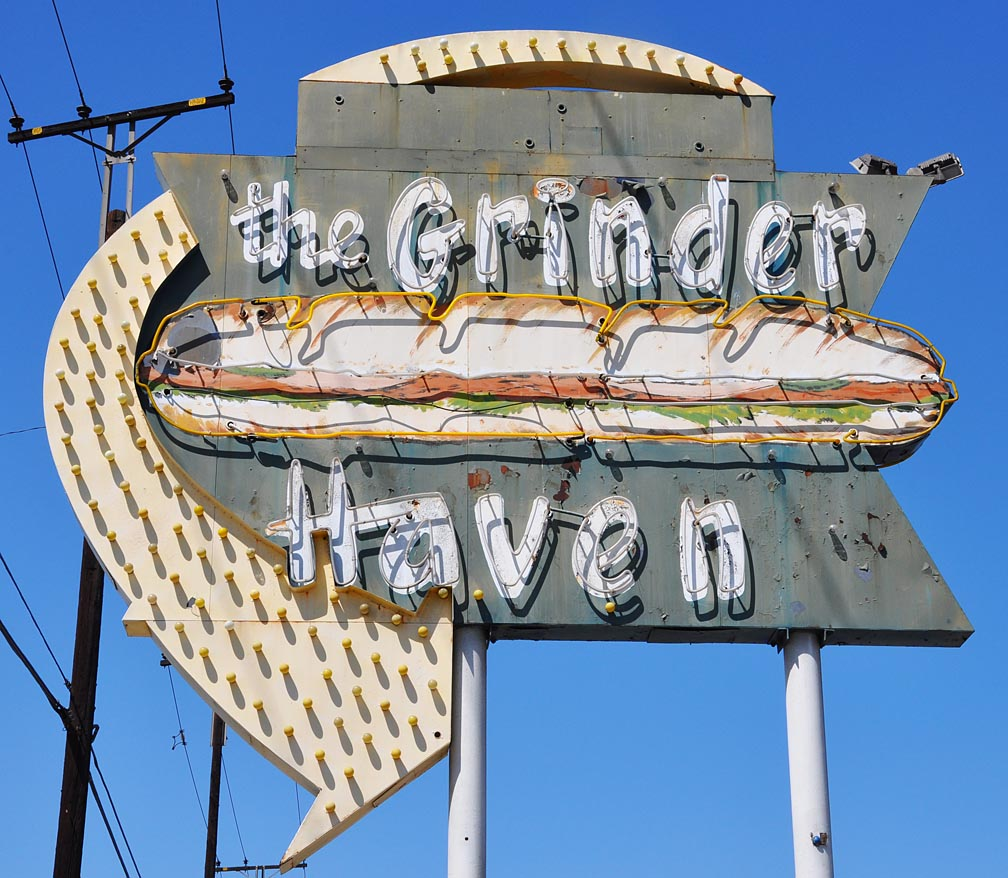 Grinder Haven opened in 1958 as D'Elia's Grinder Haven. The sign'...