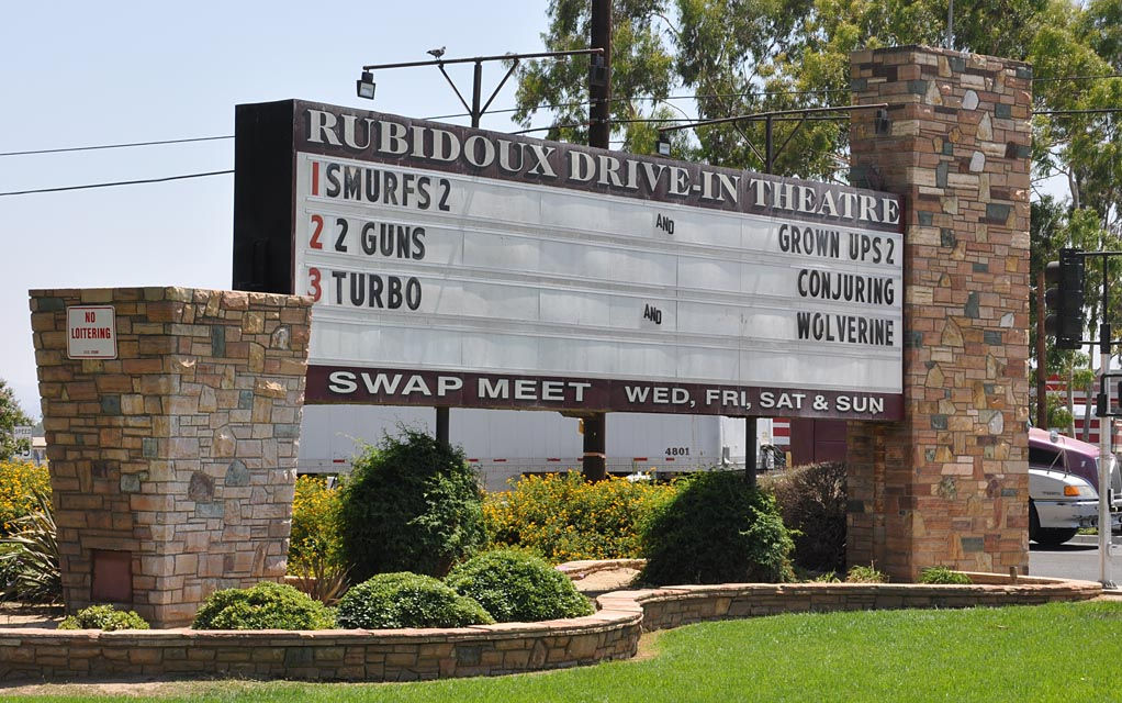 Rubidoux drive in theatre and swap meet