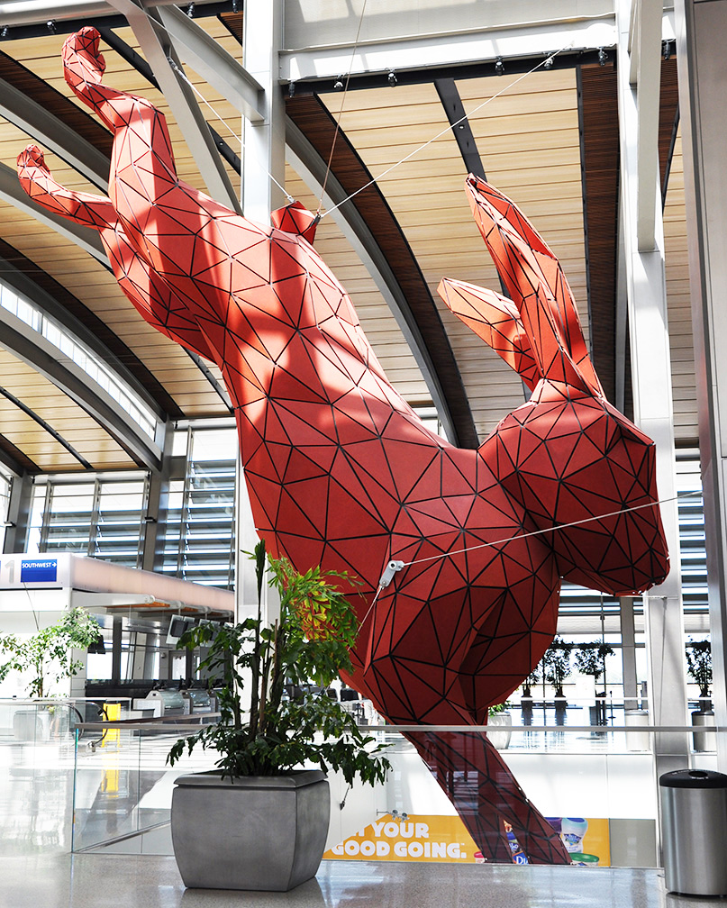 Colorado Convention Center With Lawrence Argent Sculpture: Rabbit & Hare Statues