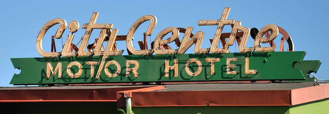 Canadian signs for City center motor hotel vancouver