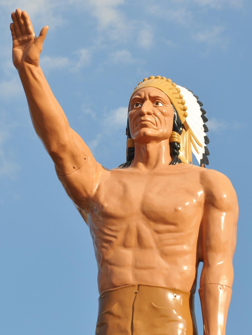 International Fiberglass Indian Statues