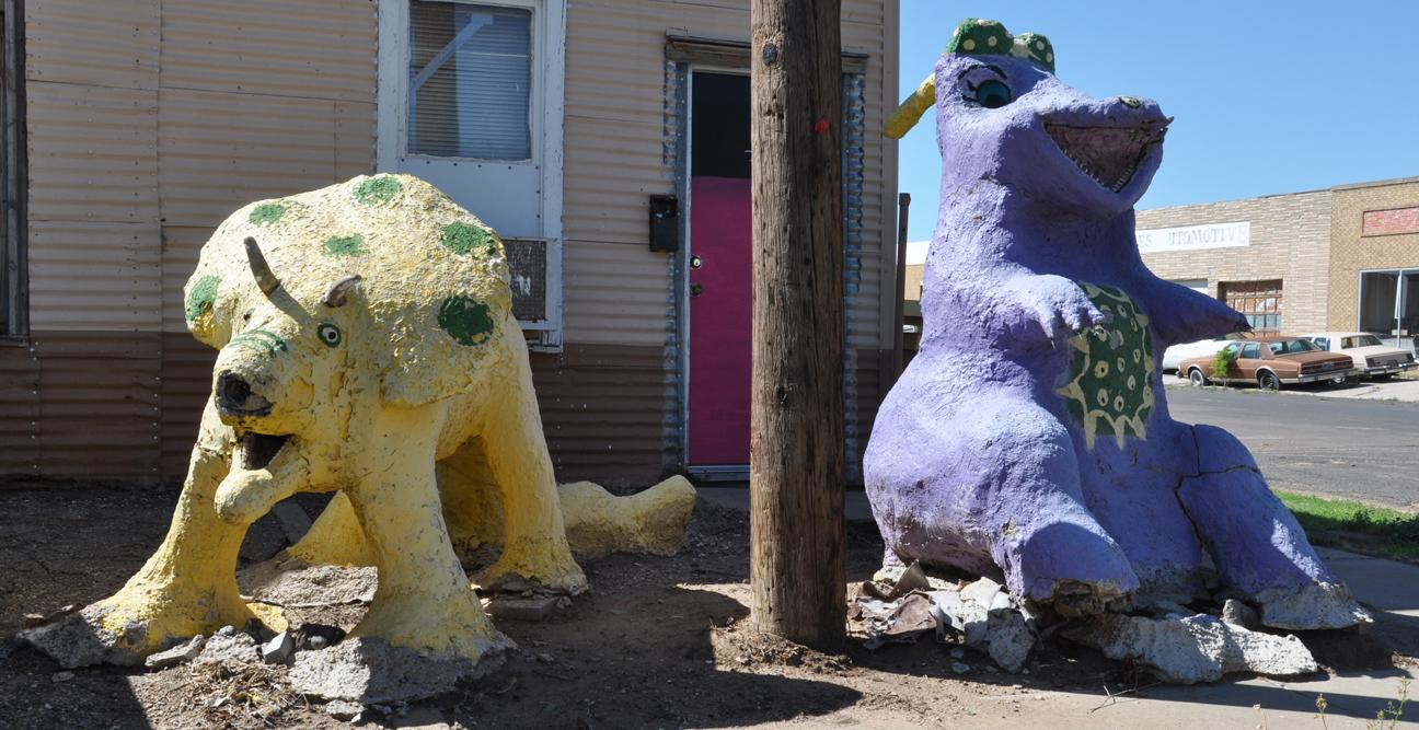 Texas Dinosaur Statues Roadsidearchitecture Com