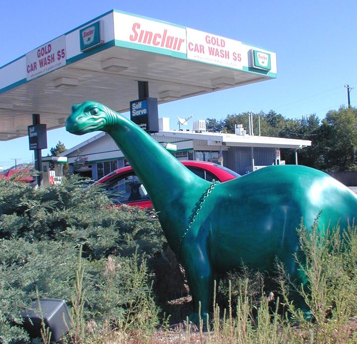 Sinclair Apartments: Sinclair Dinosaur Statues